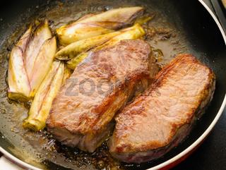 Beef Tenderloins with Endives