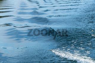 Fahrwasser eines Schiffes