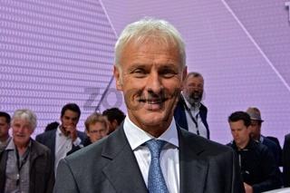 VW Chef Matthias  Müller auf der IAA