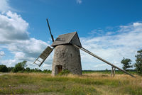 Old windmill on Gotland Sweden