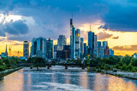 Frankfurt am Main during sunset