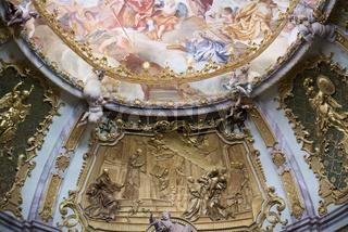 Deckenfresko in der Klosterkirche Weltenburg an der Donau