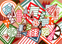 Abstract geometric shapes background 01.eps
