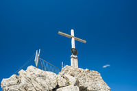 Gipfelkreuz Nebelhorn, 2224m, bei Oberstdorf, Allgäuer Alpen, Bayern, Deutschland, Europa