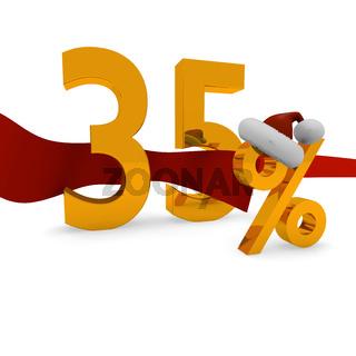 35 Prozent Weihnachtsrabatt
