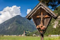 Christian wayside shrine in South Tyrol
