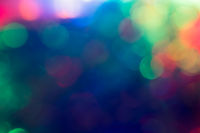 Mixed Color Festive Christmas  elegant  abstract background with bokeh lights of many colors