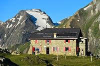 Mountain hut Rifugio Città di Busto, Italy
