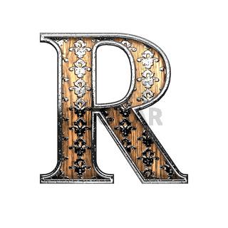 r silver letter. 3D illustration