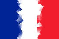France Flag Cubic