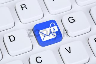 Verschlüsselte sichere E-Mail senden im Internet