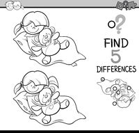 differences task coloring page