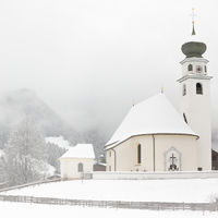 Chapel in Tyrol at wintertime, Wildschönau, Alps, Austria