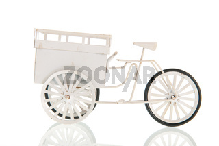 White transport bike
