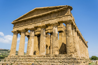 Concordia Temple. Valley of the Temples, Agrigento on Sicily, Italy