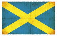 Grunge flag of Saint Albans (Great Britain)