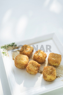 croquetas spanish tapa potato and ham croquetes
