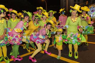 Opening parade of the Carnival of Santa Cruz de Tenerife.