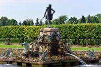 The Neptune Fountain in lower garden in Peterhof,