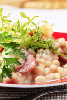 White beans with sausage