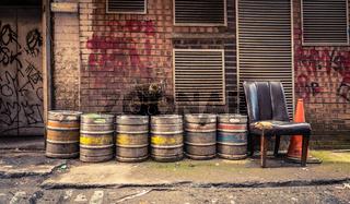 Bar Alley Beer Barrels