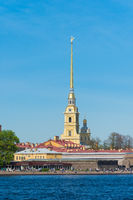 Peter And Paul Fortress On Neva River In Saint Petersburg