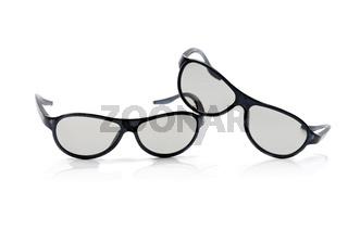 cinema glasses isolated on white