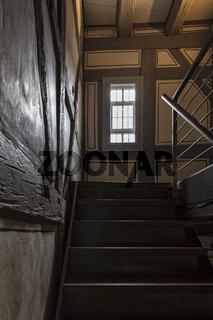 Treppenhaus im Fachwerkbau