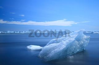 Eisblöcke am Schwarzen Strand beim Jökulsárlón