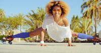 Sexy Flexible Girl Doing Splits on Roller Skates