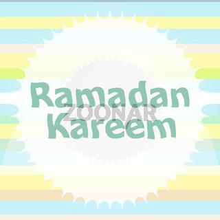 Arabic Islamic calligraphy of text Ramadan Kareem
