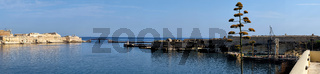 A panoramic view of the Grand Harbour. Malta.