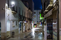 Deserted street in Old Town. Night shot.