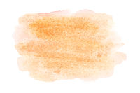 Orange watercolor stain