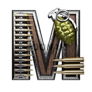 m military letter. 3D illustration