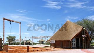 Ehemalige Elefanten-Schlachtanlage, Olifantrus Camp, Etosha, Namibia, old elephant slaughter place, Olifantrus, Etosha, Namibia