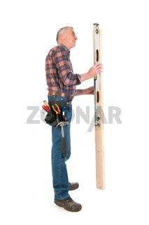 Working with plumb rule