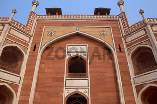 Close view of Humayun's Tomb in Delhi, India