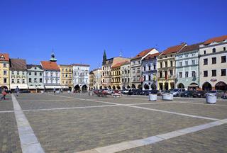 Square in the historic center of Ceske Budejovice.