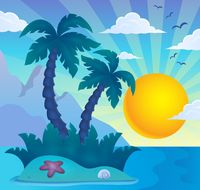 Tropical island theme image 6 - picture illustration.