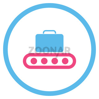 Baggage Conveyor Rounded Icon