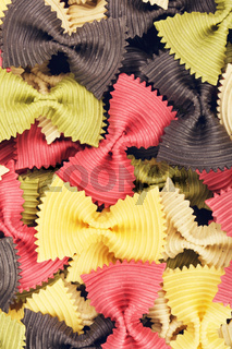 Multicolored Raw Bow Tie Pasta