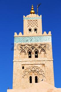 in maroc minaret and the blue    sky