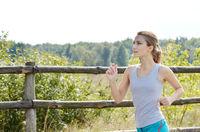 Young jogging woman