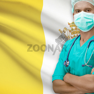 Surgeon with flag on background series - Vatican City