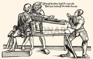 Arm extension, 1528