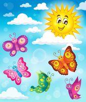 Happy butterflies theme image 5 - picture illustration.