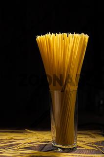 italian spaghetti on black