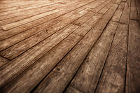 Old wooden parquet floor grunge photographic vintage background
