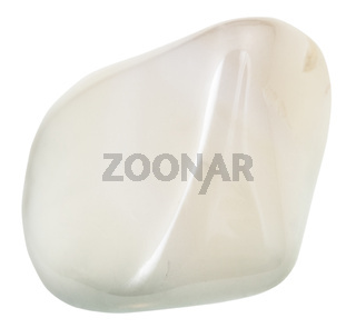 pebble of white Agate gemstone from India